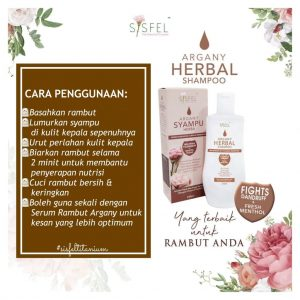 Cara guna argany herbal shampoo