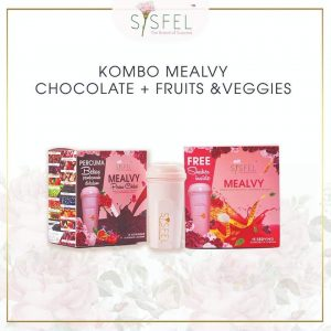kombo mealvy choclate and fruit